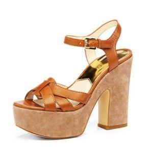 Michael Kors Nanette Barley Platform Sandals